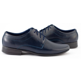 Lukas Chaussures de communion formelle enfant J1 bleu marine 2