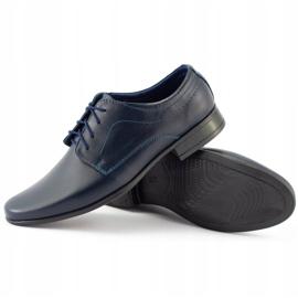 Lukas Chaussures de communion formelle enfant J1 bleu marine 5