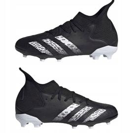 Chaussure de foot adidas Predator Freak.3 Fg Junior FY1031 noir noir 7