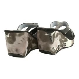 Pantoufles compensées Ipanema 83071 Lipsick Straps VII pour femmes noir gris 3