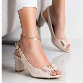 Evento Sandales à talons hauts élégantes beige 1