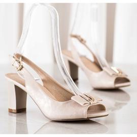 Evento Sandales à talons hauts élégantes beige 3