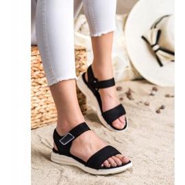 Evento Sandales confortables avec velcro noir 2