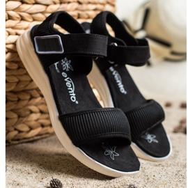 Evento Sandales confortables avec velcro noir 3