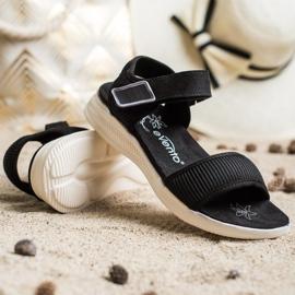Evento Sandales confortables avec velcro noir 4