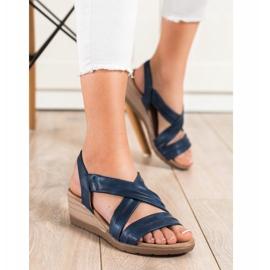 S. BARSKI Sandales compensées S.BARSKI bleu 3