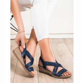 S. BARSKI Sandales compensées S.BARSKI bleu 1