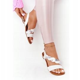 Sandales en cuir Vinceza 21-17117 Blanc et Argent 4