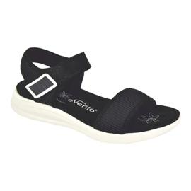Evento Sandales confortables avec velcro noir 5