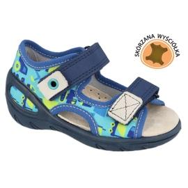 Befado chaussures pour enfants pu 065X156 bleu marin bleu vert 1