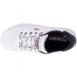 Tommy Hilfiger Iconic Leather Flatform Chaussures en EN0EN01113-YBR blanc marine 2