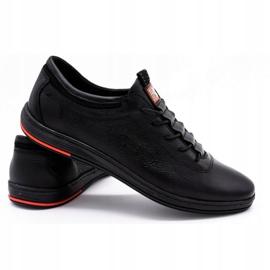 Polbut Chaussures casual en cuir pour hommes K23 noir 2
