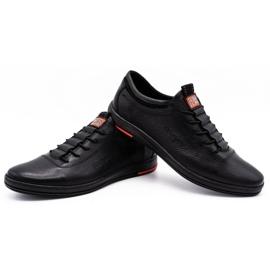 Polbut Chaussures casual en cuir pour hommes K23 noir 4