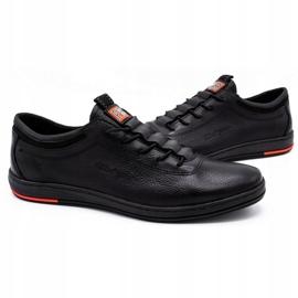 Polbut Chaussures casual en cuir pour hommes K23 noir 3