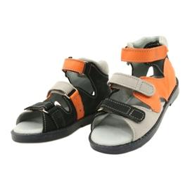 Sandales haute prophylactique Mazurek 291 gris orange 1