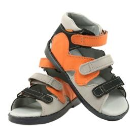 Sandales haute prophylactique Mazurek 291 gris orange 3