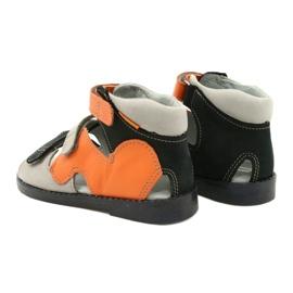 Sandales haute prophylactique Mazurek 291 gris orange 2
