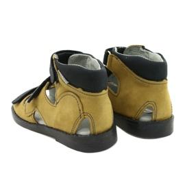 Sandales haute prophylactique Mazurek 291 gris orange jaune 2