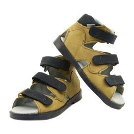 Sandales haute prophylactique Mazurek 291 gris orange jaune 3