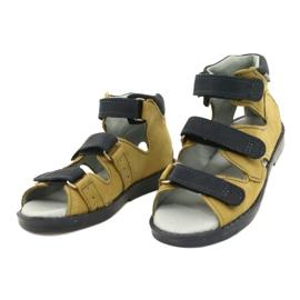 Sandales haute prophylactique Mazurek 291 gris orange jaune 1
