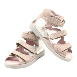 Sandales haute prophylactique Mazurek 291 rose-argent 3