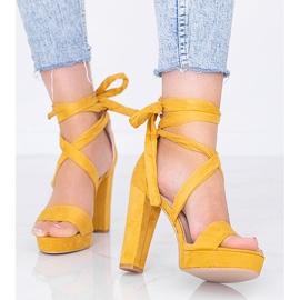 Sandales à lacets moutarde Ginny jaune 1