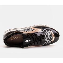 Marco Shoes Baskets légères sur semelle épaisse en cuir naturel noir 7
