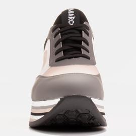 Marco Shoes Baskets légères sur semelle épaisse en cuir naturel gris 2