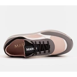 Marco Shoes Baskets légères sur semelle épaisse en cuir naturel gris 6