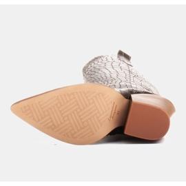 Marco Shoes Bottes hautes pour femmes santiags, motif croco noir 6