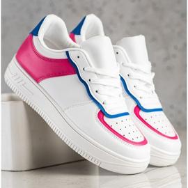 SHELOVET Chaussures de sport à la mode blanche 3