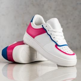 SHELOVET Chaussures de sport à la mode blanche 4