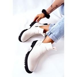 POTOCKI Bottes Corano blanches avec une coupe zippée 1
