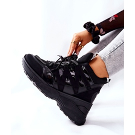 POTOCKI Chaussures compensées noires Hesane Sport le noir 2