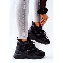 POTOCKI Chaussures compensées noires Hesane Sport le noir 4