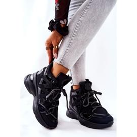 POTOCKI Chaussures compensées noires Hesane Sport le noir 5