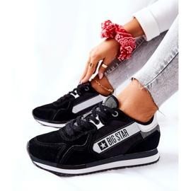 Chaussures de sport en cuir Big Star II274271 Noir blanche le noir 2