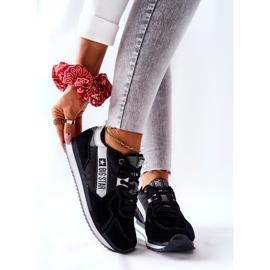 Chaussures de sport en cuir Big Star II274271 Noir blanche le noir 7
