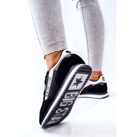 Chaussures de sport en cuir Big Star II274271 Noir blanche le noir 1