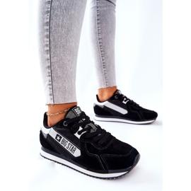 Chaussures de sport en cuir Big Star II274271 Noir blanche le noir 4