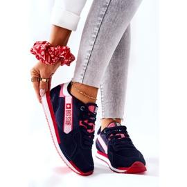 Chaussures de sport en cuir Big Star II274270 Bleu marine blanche rouge 1