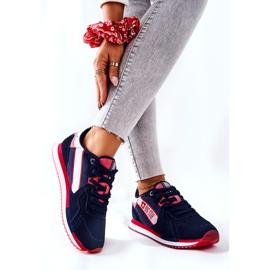 Chaussures de sport en cuir Big Star II274270 Bleu marine blanche rouge 2