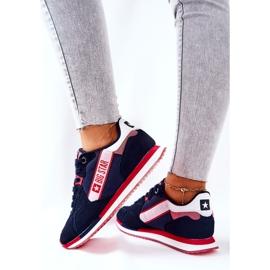 Chaussures de sport en cuir Big Star II274270 Bleu marine blanche rouge 5