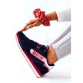 Chaussures de sport en cuir Big Star II274270 Bleu marine blanche rouge 6