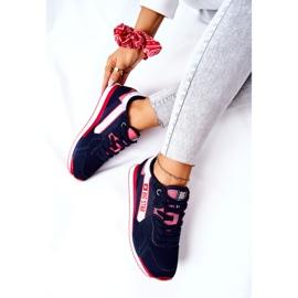 Chaussures de sport en cuir Big Star II274270 Bleu marine blanche rouge 7