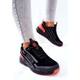 Chaussures de sport en cuir Big Star II274460 Noir le noir rouge 5