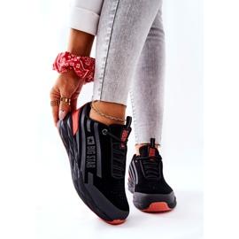 Chaussures de sport en cuir Big Star II274460 Noir le noir rouge 1