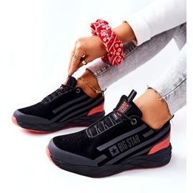 Chaussures de sport en cuir Big Star II274460 Noir le noir rouge 6