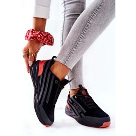 Chaussures de sport en cuir Big Star II274460 Noir le noir rouge 2