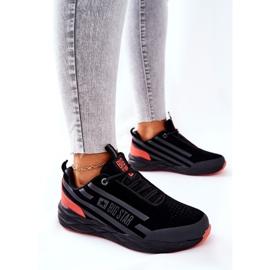 Chaussures de sport en cuir Big Star II274460 Noir le noir rouge 3